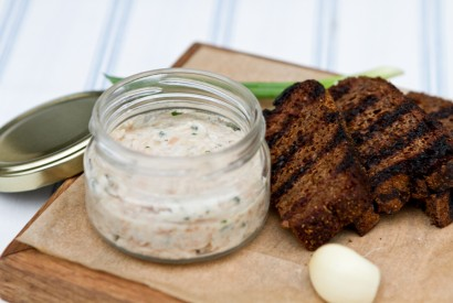 Lard pate with croutons
