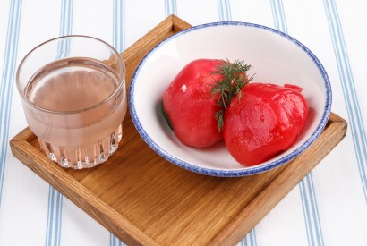 Tomatoes, which have been marinated for three days