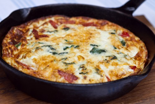 Spinach omlette